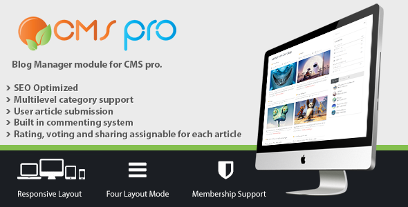 Blog Manager Module for CMS pro - CodeCanyon Item for Sale