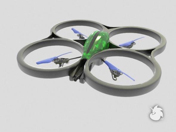 Parrot AR Drone - 3DOcean Item for Sale