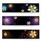 Three Horizontal Banner with Gold Jewelry - GraphicRiver Item for Sale