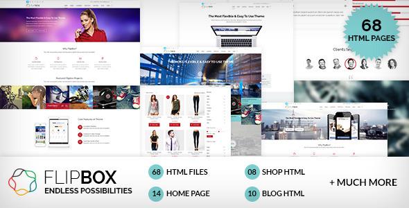 FlipBox - Multipages HTML5/CSS3 Template - Corporate Site Templates