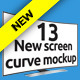 New Screen Cinema Display Curve Mockup - GraphicRiver Item for Sale
