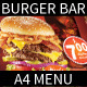 Burger A4 Menu Flyer - GraphicRiver Item for Sale