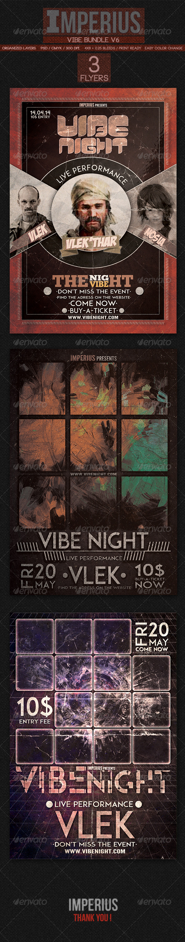 Vibe Bundle V6 - Flyers Print Templates