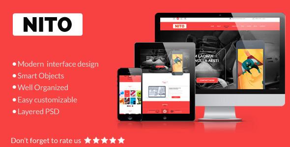 Nito – OnePage Portfolio PSD Template