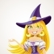 Witch Shows Hand Aside Explaining  - GraphicRiver Item for Sale
