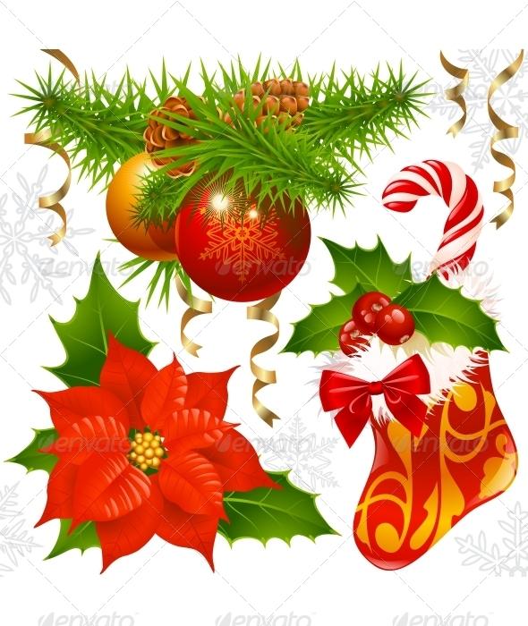 Christmas decoration set 2 - New Year Seasons/Holidays