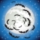 Bats Flying in the Night Sky - GraphicRiver Item for Sale