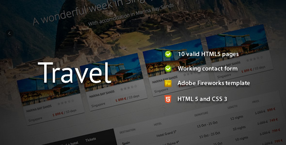 Travel – Premium HTML Template