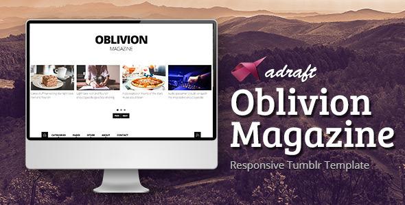 Oblivion Magazine – Responsive Tumblr Template