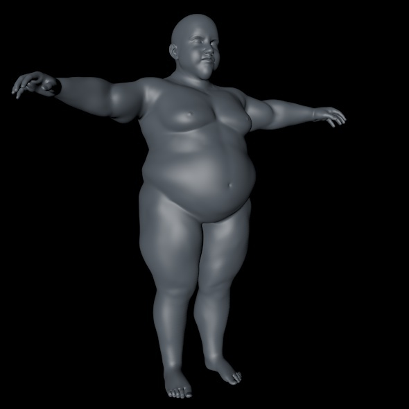Fat Young Male - 3DOcean Item for Sale