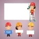 Builders Presenting Empty Banners - GraphicRiver Item for Sale