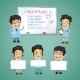 Doctors Presenting Empty Banners - GraphicRiver Item for Sale