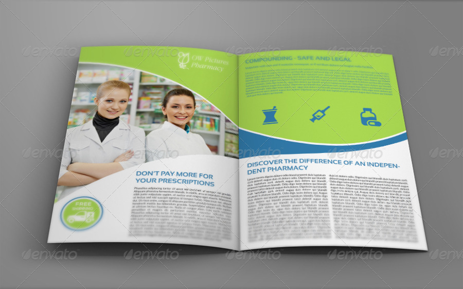 Pharmacy Brochure Bi Fold Template By Owpictures Graphicriver