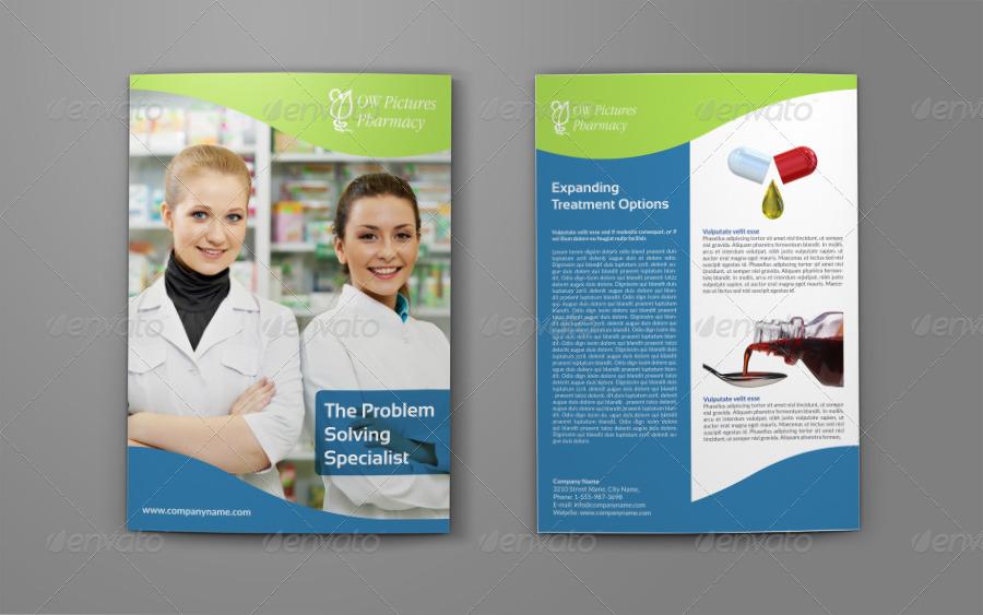Pharmacy brochure bi fold template by owpictures for Pharmacy brochure template free