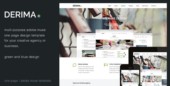 Derima - Creative One Page Multi-Purpose Template - Creative Muse Templates