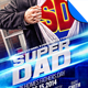 Super Dad Father's Day Flyer Template