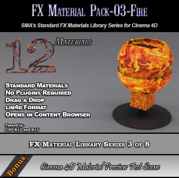 Standard FX Material Pack-03-Fire for Cinema 4D - 3DOcean Item for Sale
