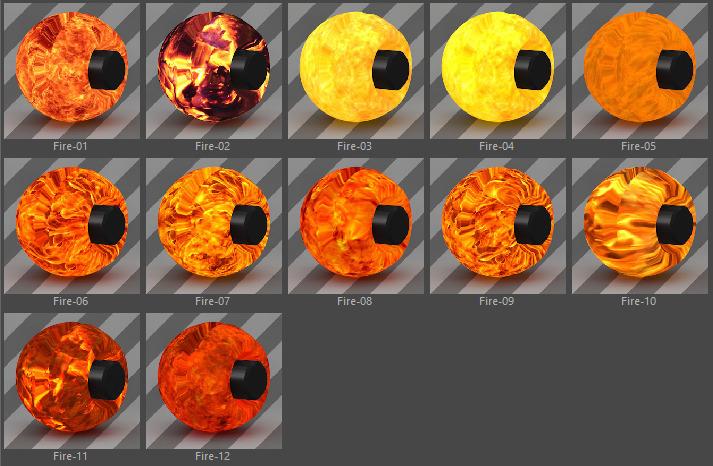 Standard FX Material Pack-03-Fire for Cinema 4D