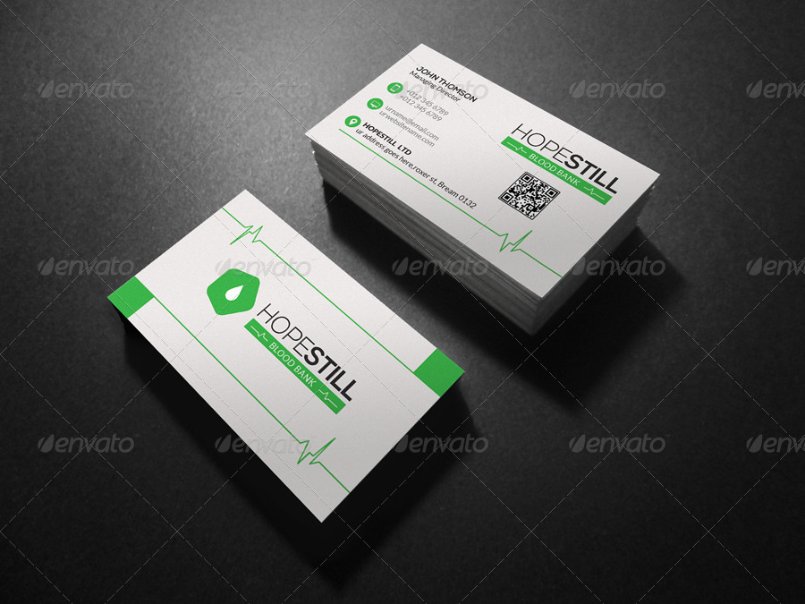 Hospital Business Card by -axnorpix   GraphicRiver