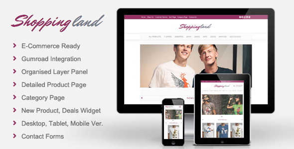 Shoppingland – eCommerce Muse Template