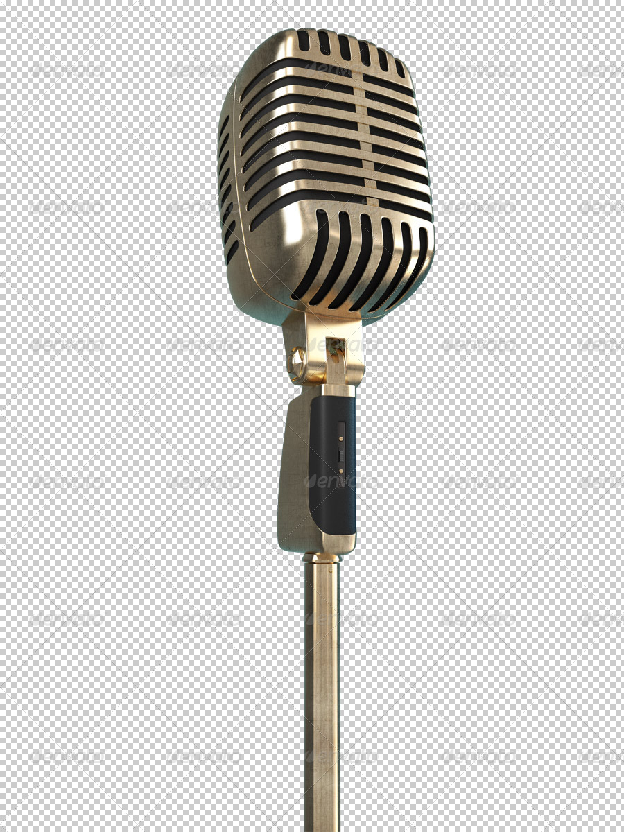 Karaoke Retro Microphone clipart by Bennet1890 | GraphicRiver