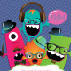 Banners and Greeting Cards with Cute Monsters - GraphicRiver Item for Sale
