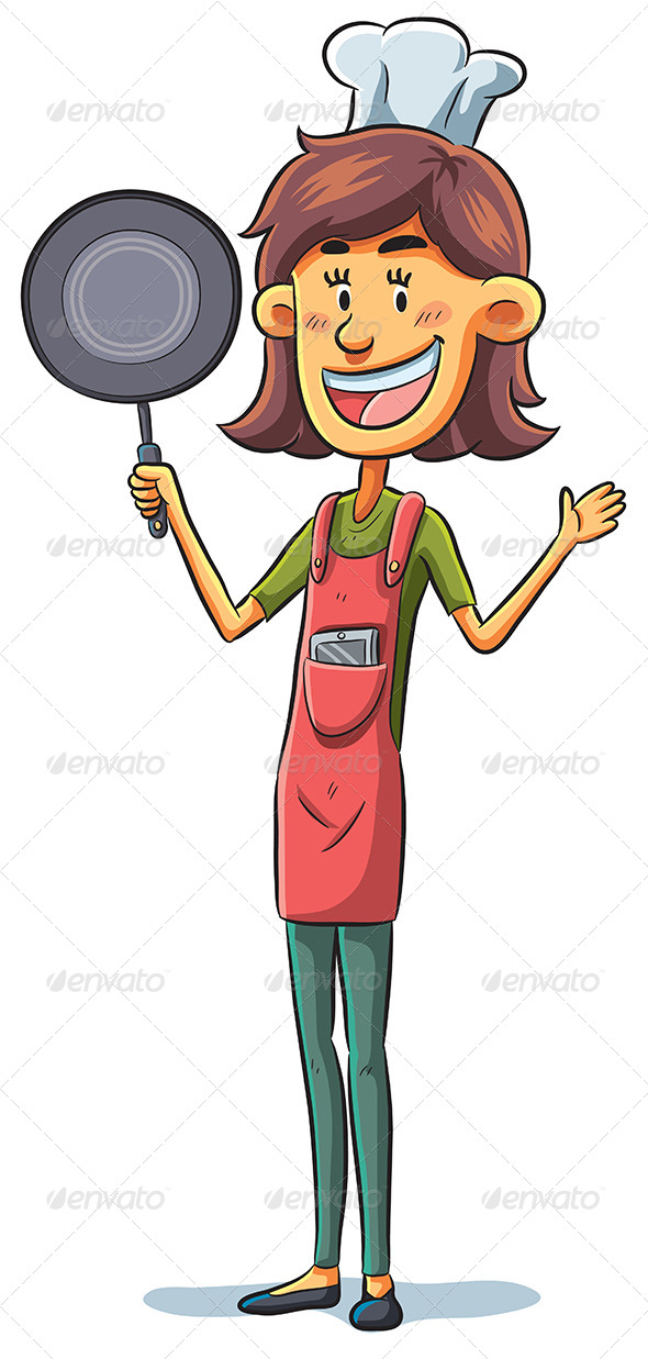 Woman Chef - People Characters