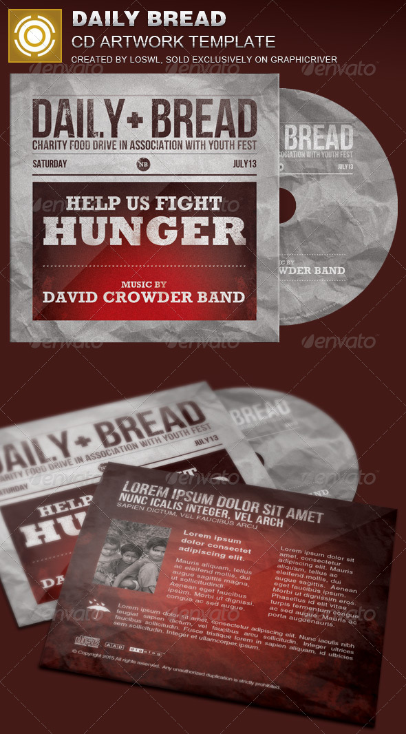 Daily Bread CD Artwork Template - CD & DVD Artwork Print Templates