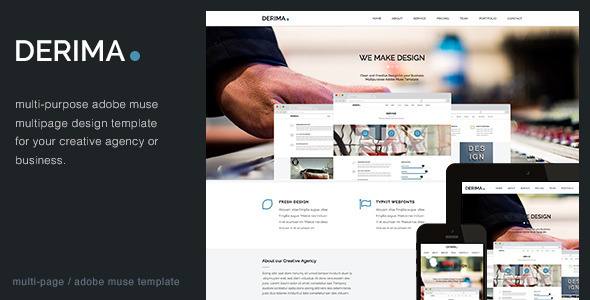 Derima - Multi-Purpose Muse Template - Corporate Muse Templates
