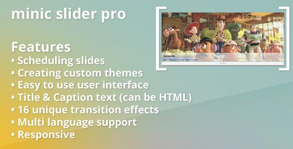 Minic Slider Pro for Prestashop - CodeCanyon Item for Sale