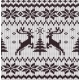 Vector Seamless Knitted Pattern with Deers - GraphicRiver Item for Sale