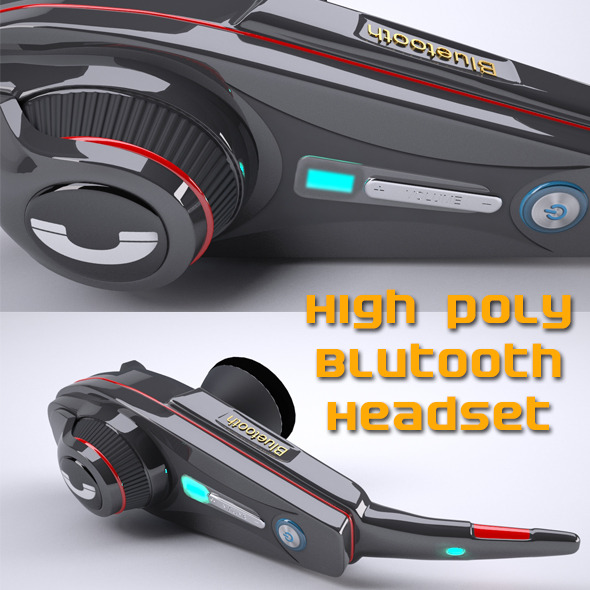 Bluetooth handset - 3DOcean Item for Sale