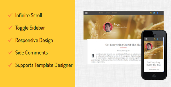 Togglr - Clean Responsive Blogger Template - Blogger Blogging