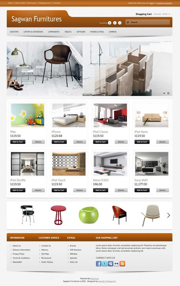 Sagwan Furniture\'s Opencart Theme by sainath | ThemeForest