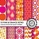 10 Pink & Orange Retro Seamless Patterns - GraphicRiver Item for Sale
