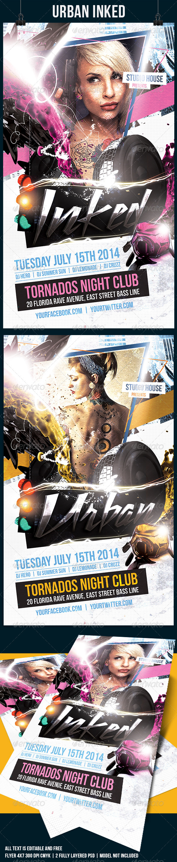 Inked Urban Flyer Template - Events Flyers