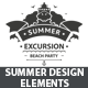 Summer Design Elements - GraphicRiver Item for Sale