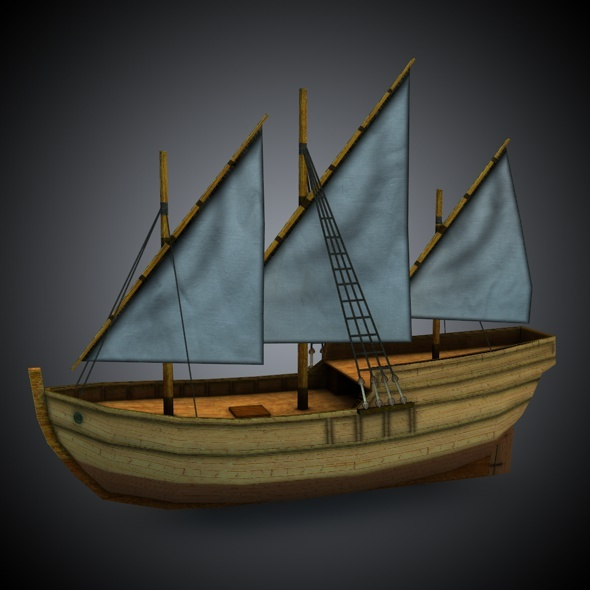 Age of Sail_Caravel - 3DOcean Item for Sale