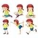 Girl in Six Poses - GraphicRiver Item for Sale