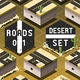 Isometric Roads on Desert Terrain - GraphicRiver Item for Sale