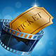 Camera Film Strip and Gold Ticket - GraphicRiver Item for Sale