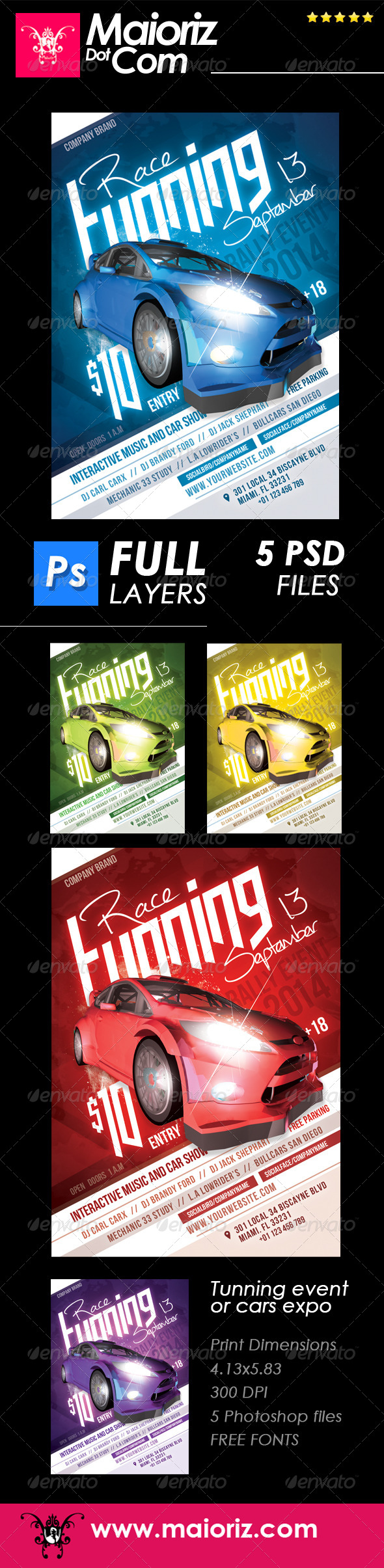 Tuning Cars Flyer Event - Miscellaneous Events