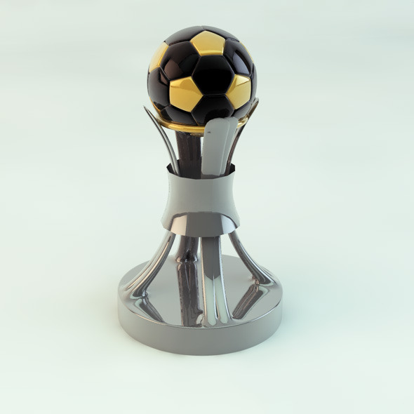 Original Soccer Cup Trophies 3D Model - 3DOcean Item for Sale