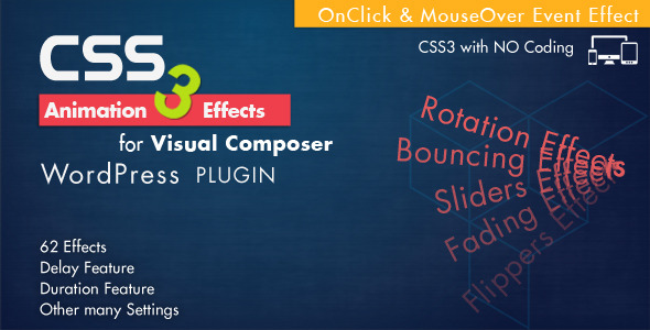 Animation CSS3 Effects - Visual Composer WordPress nulled free download