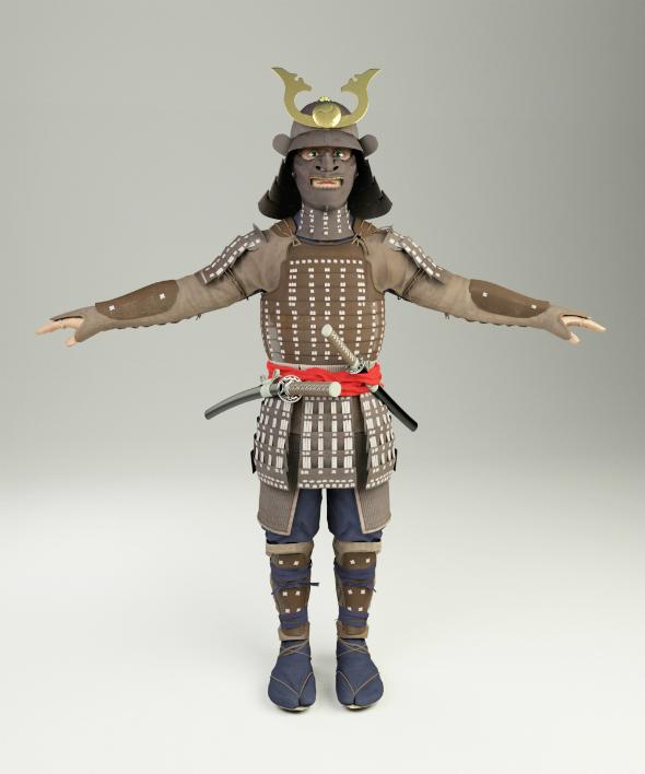 samurai 3d model by fainods 3docean