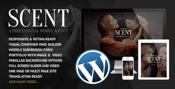 Scent – Model Agency WordPress Theme