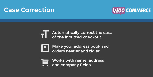 WooCommerce Case Correction - CodeCanyon Item for Sale