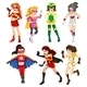 Seven female superheroes - GraphicRiver Item for Sale