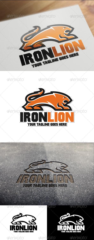 Iron Lion Logo Template - Animals Logo Templates