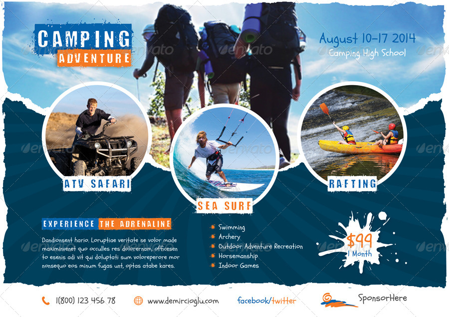 Camp Flyer Template | Flyer Camping Ayla Quiztrivia Co